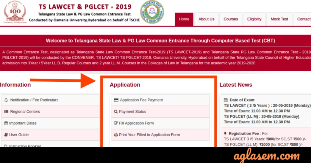 TS LAWCET 2019 Official Website