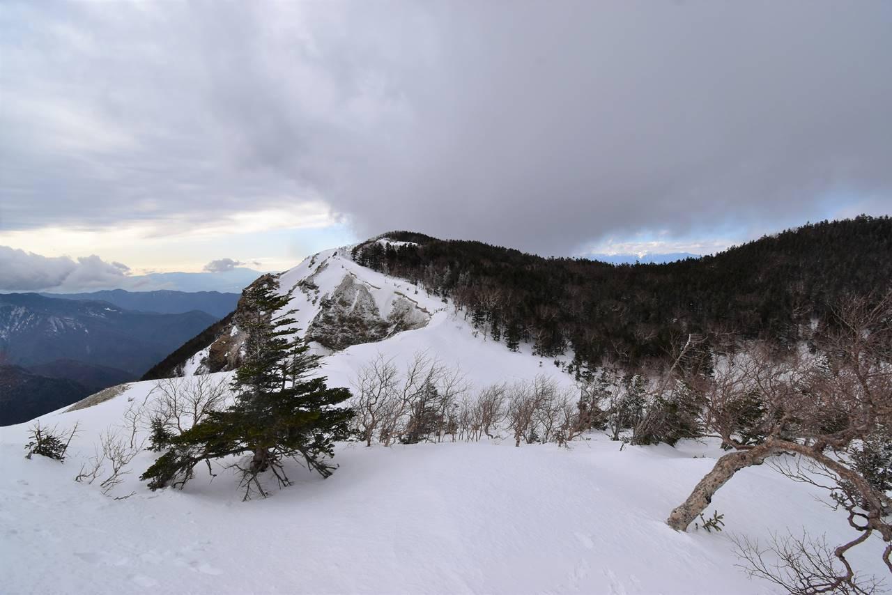 烏帽子岳稜線からの景色