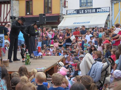 Quimper. Story telling: an important element of Breton culture.