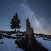 Schöckl in winter with Milky way by CHCaptures