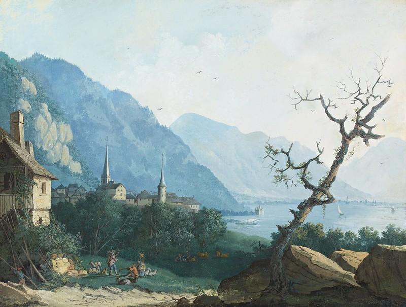 Louis Albert Guislain Bacler d'Albe - Montreux, von Nordwesten (1786)