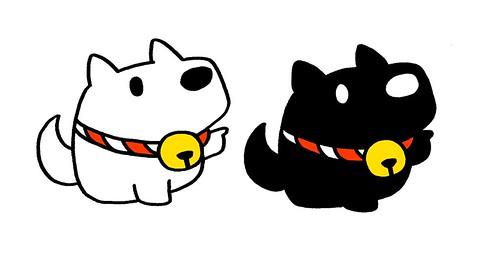 白と黒のご神犬