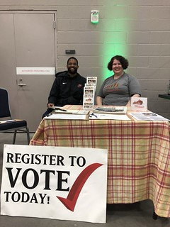 Voter Registration at Roller Derby