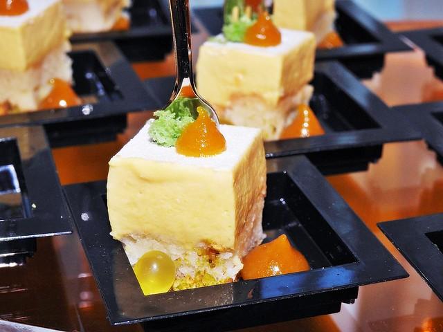 Mango Pineapple Mousse Cake