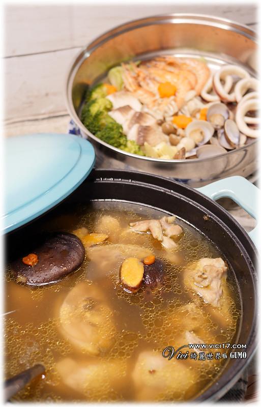 薑黃雞湯蒸海鮮105