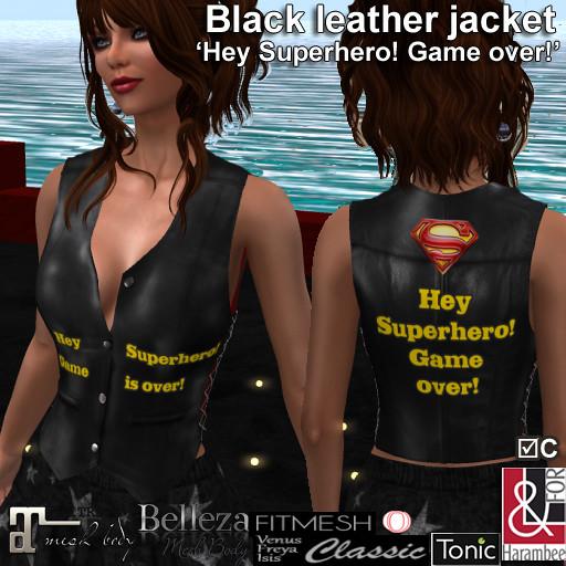 Black leather jacket Game over