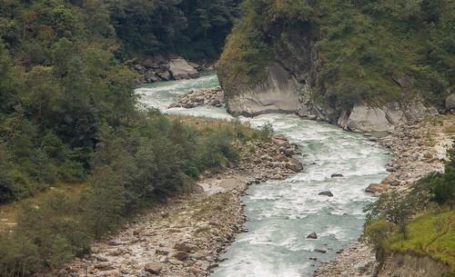Marsangdi River near Bahundanda