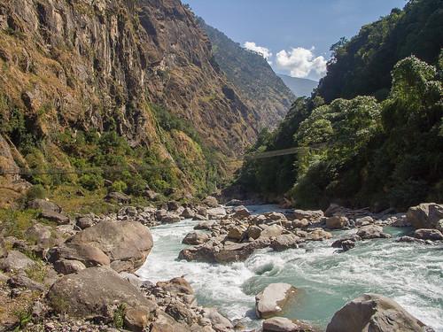 Marsangdi Khola near Chamje.