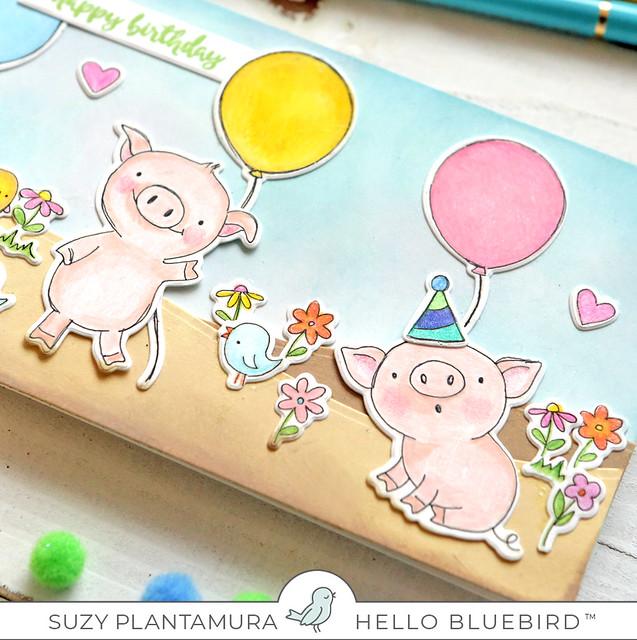 Happy Birthday Piglets close up 2