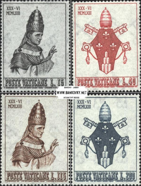 Známky Vatikán 1963 Pavol VI, neraz.