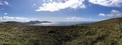 View of the Skellig Islands from the Coomanaspic Pass