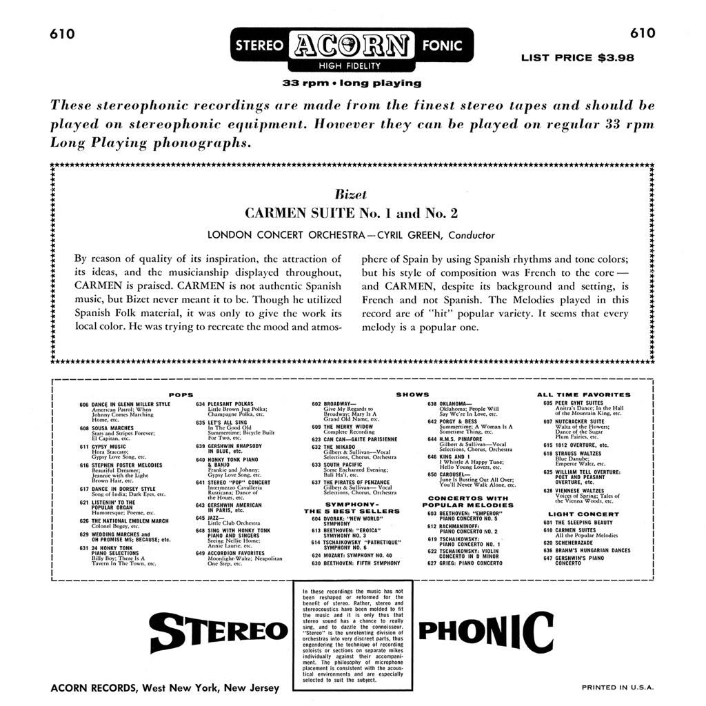 Georges Bizet - Carmen Suite 1 & 2 b