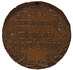 1777 Battle of Germantown Medal reverse