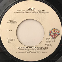 ZAPP:I CAN MAKE YOU DANCE(LABEL SIDE-A)