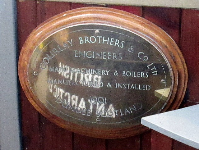 Engine Plaque, RRS Discovery, Dundee