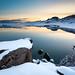 Twilight at Lake Kleifarvatn by Uldis K