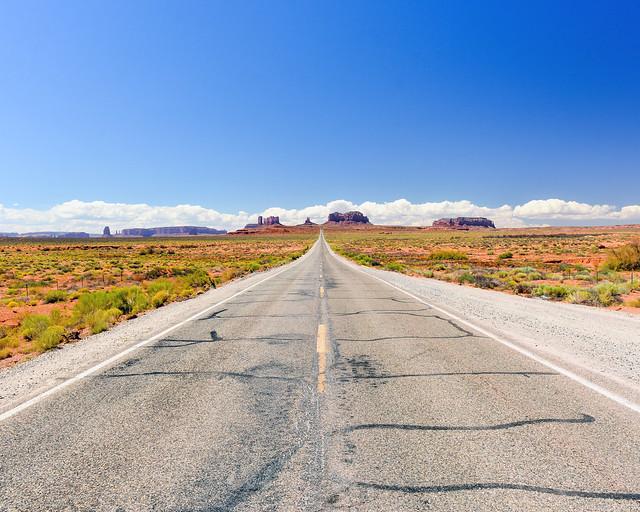 Carretera 163 de Utah donde se filmó Forrest Gump