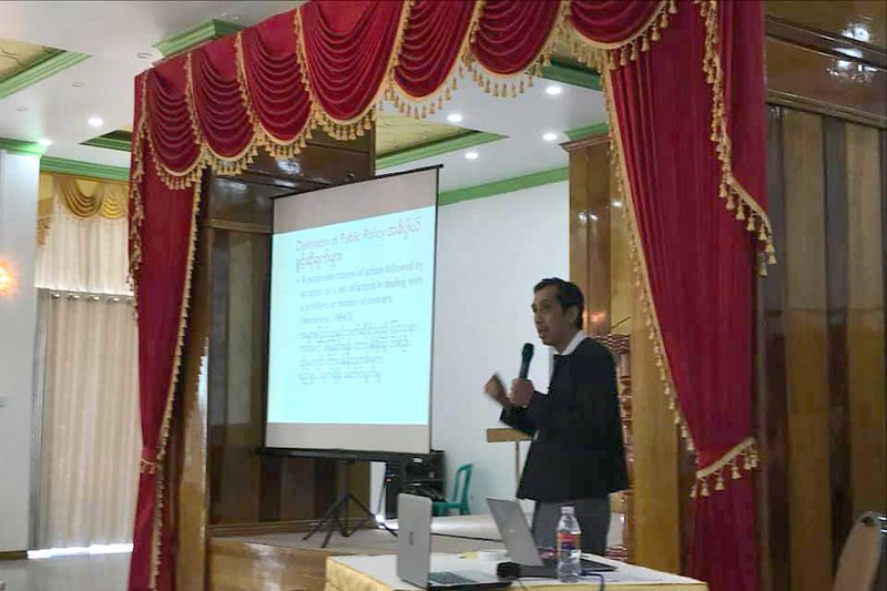 Identifying policy issues for policy making process in Magway