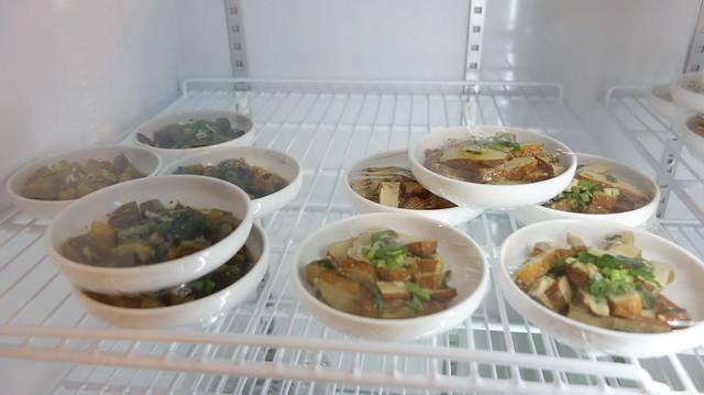 小菜以豆製品為主,有海帶也有豆干@台北信義區/南龍麵屋