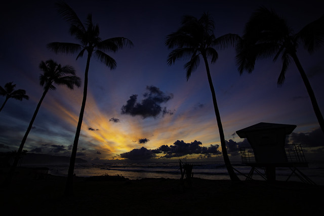 Twilight On The North Shore of Oahu, Hawaii