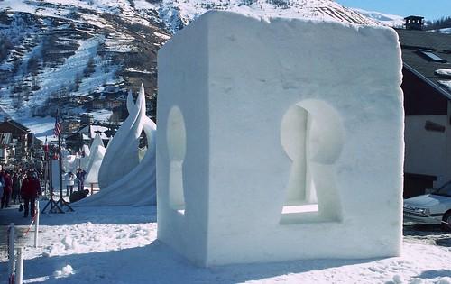 France, les sculptures sur glace de Valloire-Galibier