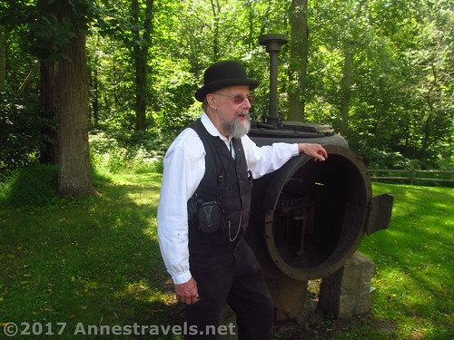Our interpreter at the beginning of the tour at Cooper Mill in Chester, New Jersey