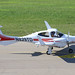 N829TD - 2016 build Diamond DA42 NG Twin Star, taxiing for departure on Runway 24 at Friedrichshafen during Aero 2018