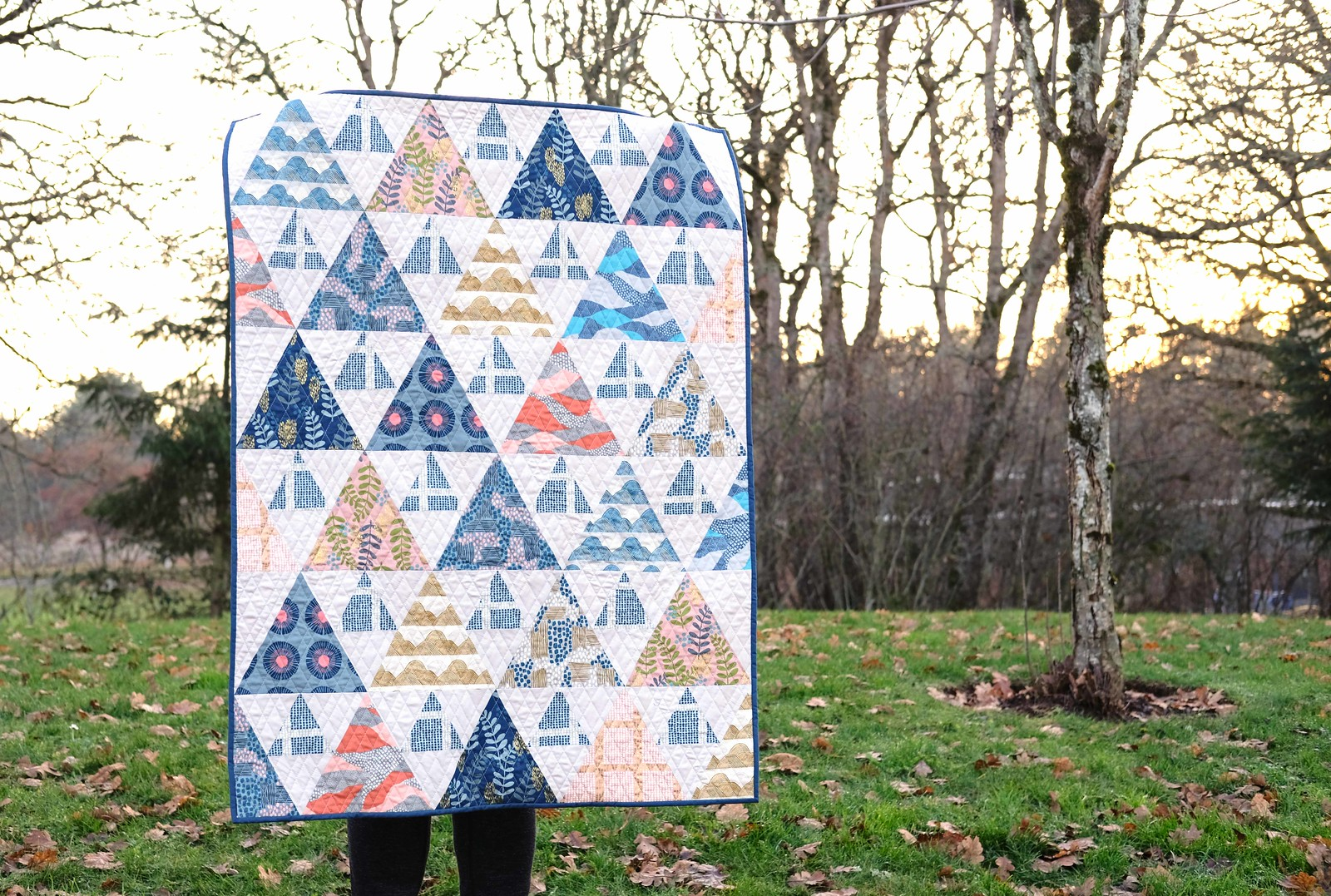 Imagined Landscapes Triangle Peaks Quilt