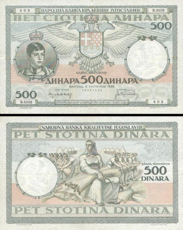 50 Dinárov Juhoslávia 1935, P32