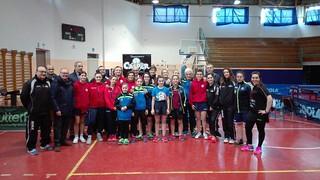 Le atlete del concentramento di Reggio Calabria