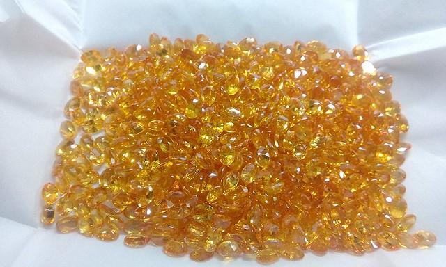 natural orange garnet oval faceted loose gemstone