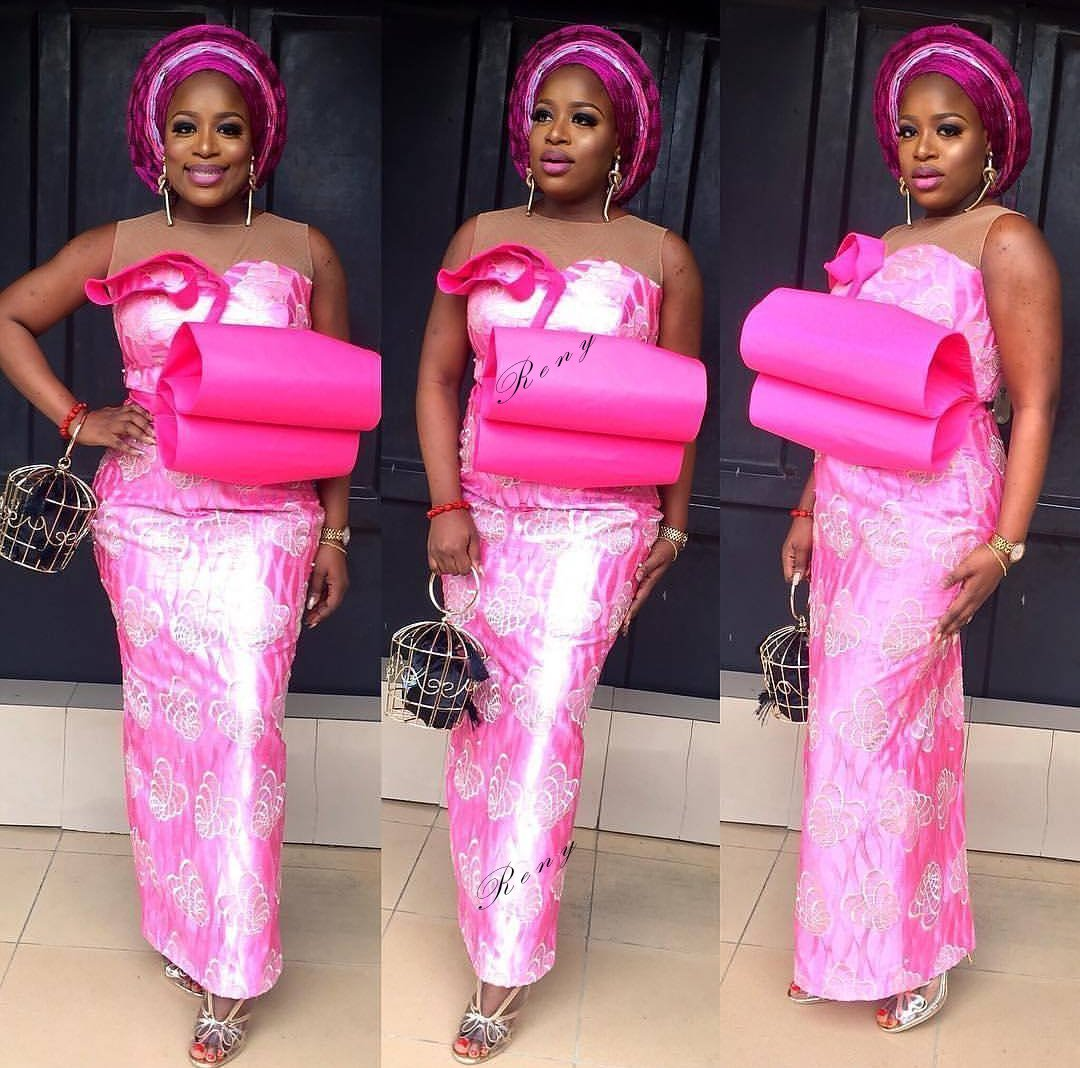 Latest Pink Aso-Ebi Styles 2019