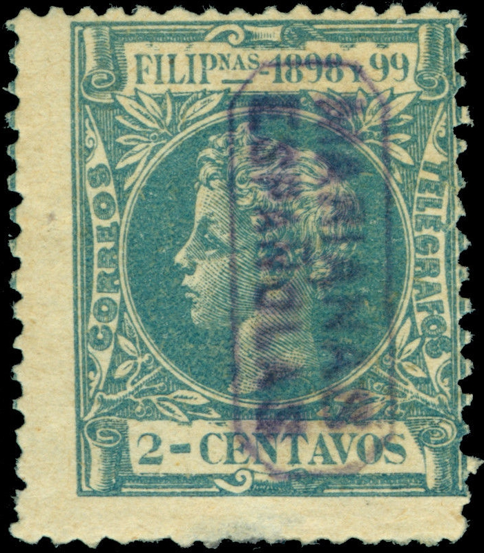 Spanish Mariana Islands - Scott #1 (1899); 500 printed [NIMC2019) - image sourced from active eBay auction.