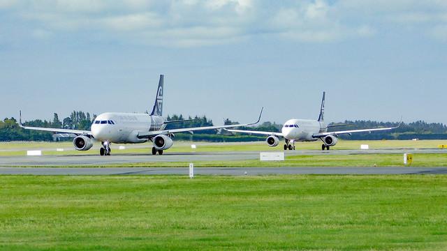 Two A320's at Christchurch, Nikon COOLPIX B500