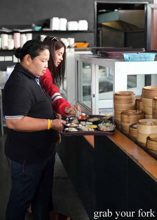 Choose your own breakfast dumplings at Super Dim Sum in Phuket Thailand