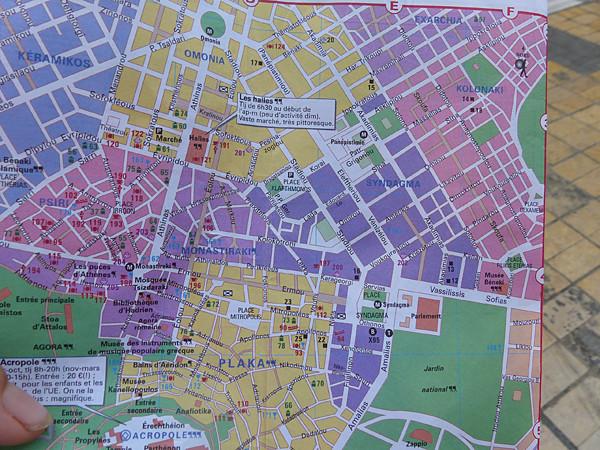 plan d'Athènes