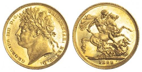 1822 George IV Sovereign