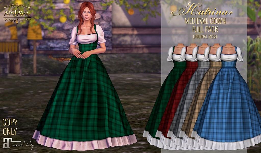 ":: ANTAYA :: Medieval gown ""Katrina"" - TeleportHub.com Live!"