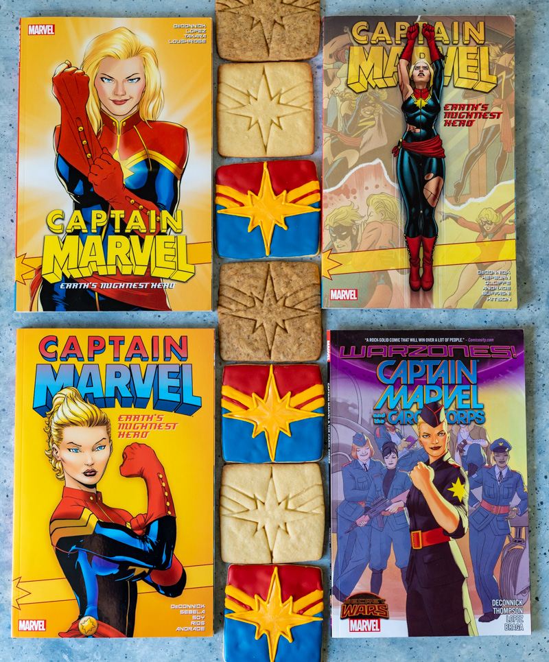 Captain Marvel Coffee Sugar Cookies www.pineappleandcoconut.com