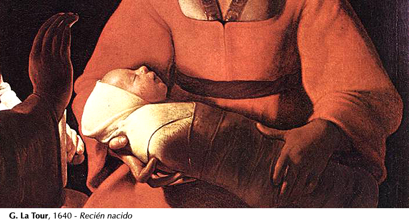 La Tour, 1640 -Jesús recién nacido