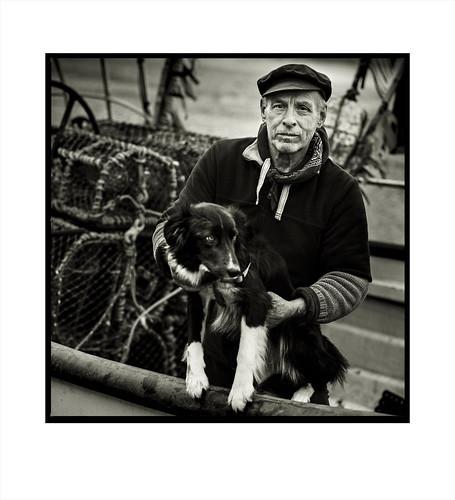 Marty & Socks. Cromer Crab Fisherman, Norfolk.