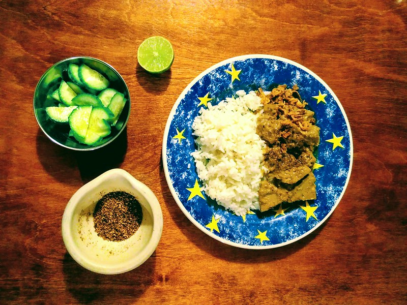 Jackfruit rendang meal