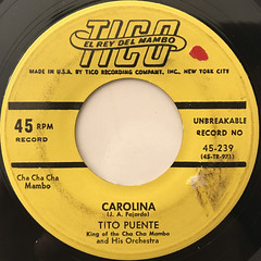 TITO PUENTE AND HIS ORCHESTRA:CAROLINA(LABEL SIDE-A)