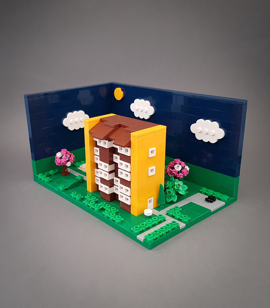 Sunny Orange Block MOC. Diorama version II