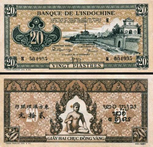 20 Piastrov Francúzska Indočína 1942-5, P71