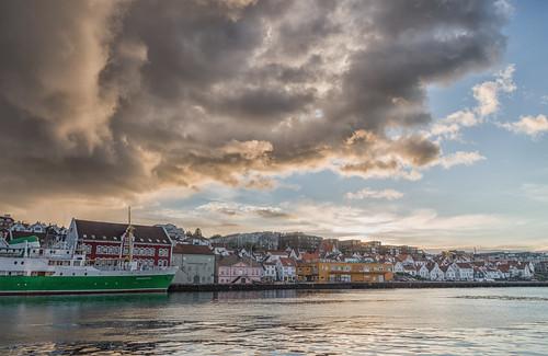 Clouds Over Stavanger Harbor