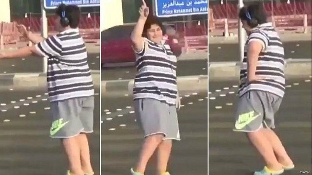 3671 14 years old arrested in Saudi Arabia for dancing on the Road