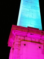 #bleu #blue #rose #pink #violet #monument #beaune #france #nuit #nightb - Photo of Saint-Loup-de-Varennes