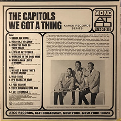 THE CAPITOLS:WE GOT A THING(JACKET B)