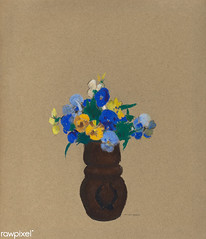 Pansies by Odilon Redon